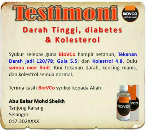 Minyak Kelapa Dara, BioVCO adalah minyak Kelapa dara untuk merawat