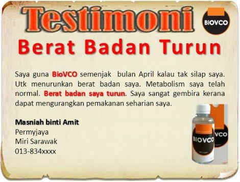 Testimoni minyak kelapa dara gemuk