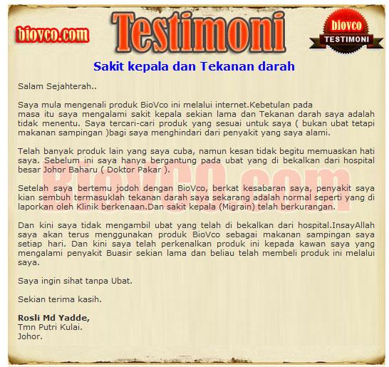 Testimoni minyak kelapa dara darah tinggi